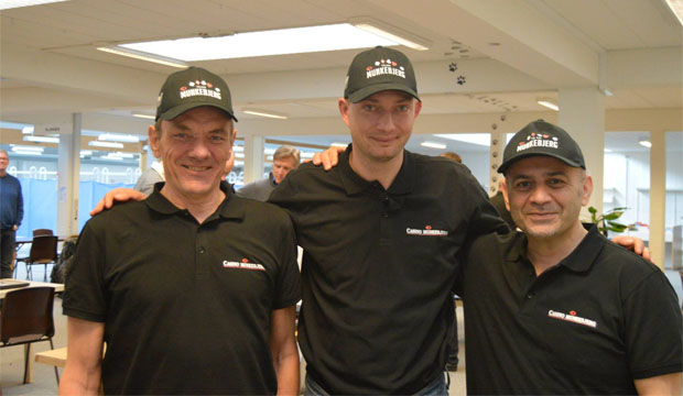 Finn Mølgaard, Morten Johansen og Kaptajn Khosrow Jafehvand