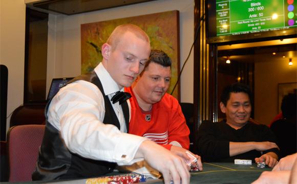 Billede fra et tidligere poker event på Casino Aalborg