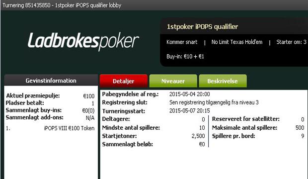 Photo of 1stpoker iPOPS €11 Kval Torsdag 20:00
