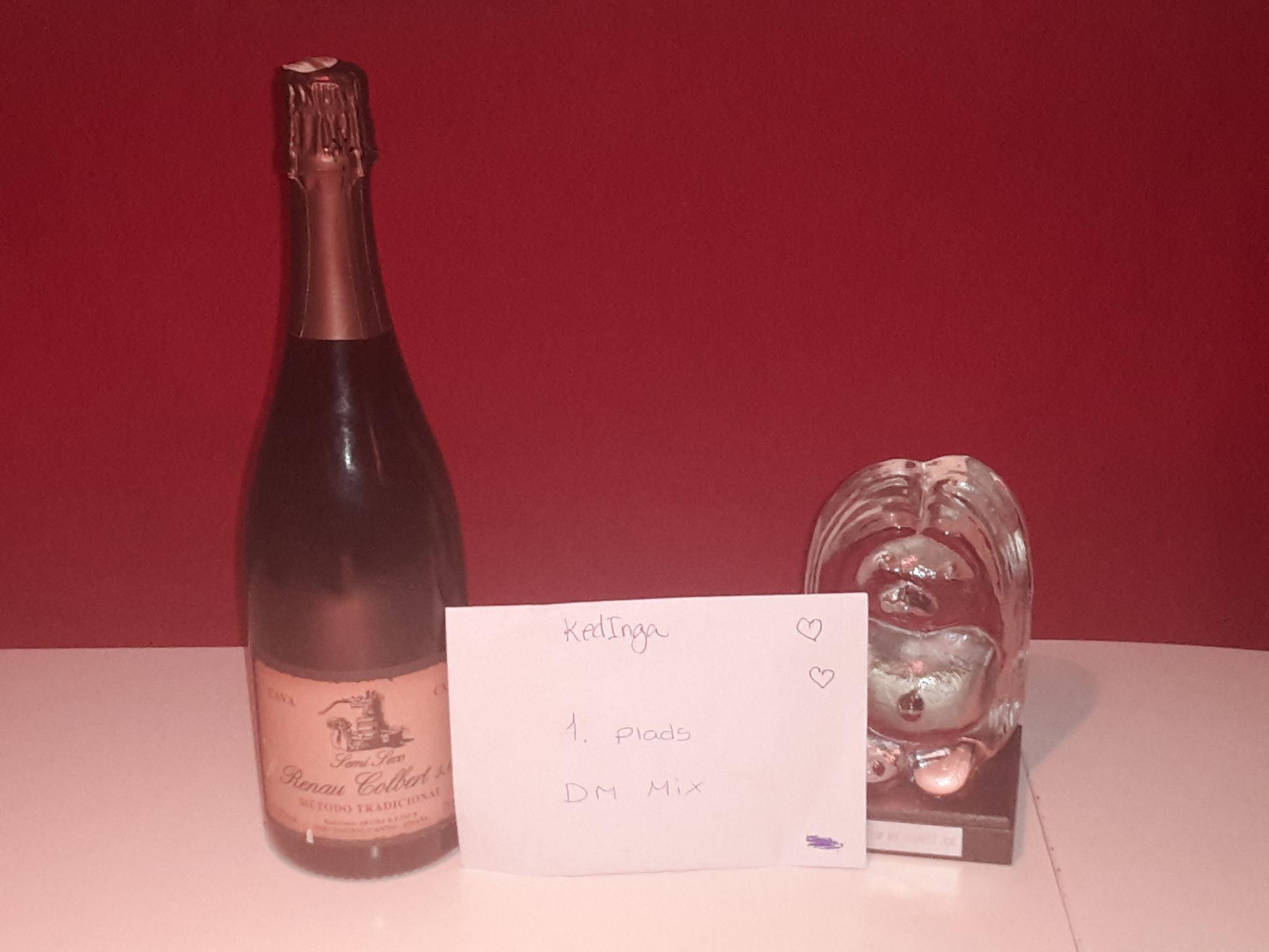 Artikel foto: Champagne, Pokal og præmiekuvert