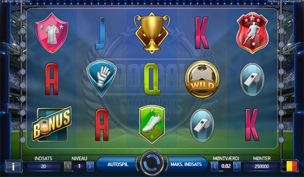 Spillemaskinen: Football Champions Cup