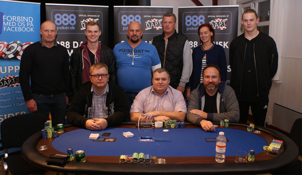 Artikel billede: Finalebordet fra Mesterskabet i Horsens Pokerklub