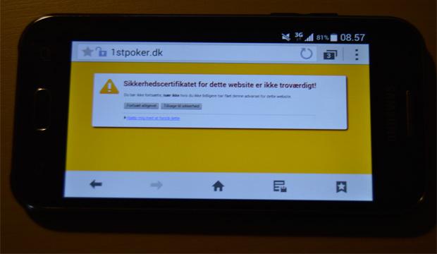 Photo of Info: Problemer med Mobil/Tablet på 1stpoker.dk (er løst)