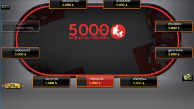 Photo of 5000kr Freeroll kun for Danskere, hver søndag 21:00
