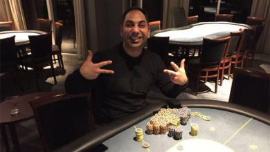 Photo of Rabih Beainy vinder på Casino Marienlyst, onsdag 30-1-2019
