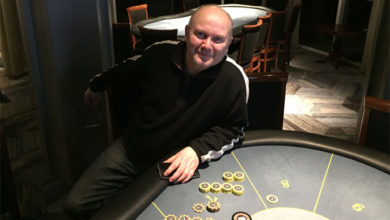 Photo of Anders Lau vinder på Casino Marienlyst, onsdag 12-2-2020