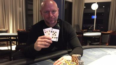 Photo of Lars Petersen vinder på Casino Marienlyst, lørdag 2-2-2019