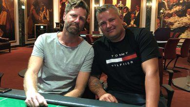 Photo of Patrick og Anders deler heads-up, på Casino Aarhus 25-6-2019