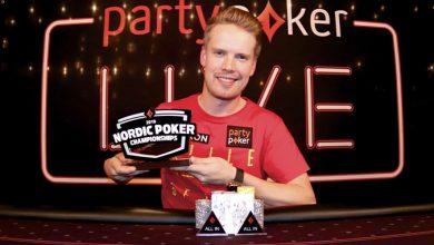 Photo of Joni Jouhkimainen vinder 25.000kr NPC 2019 High Roller