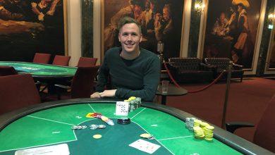 Photo of Mads J. G. Olesen vinder på Royal Casino Aarhus, 16-1-2020