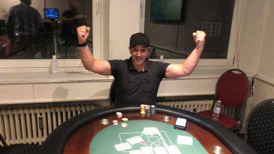 Don Olsen efter sejren i RCR - Live Poker