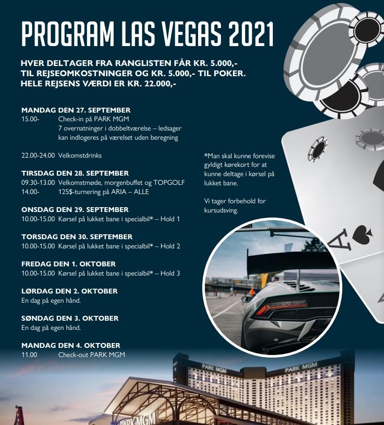 Las Vegas Programmet 2020/2021 - Pokernyheder