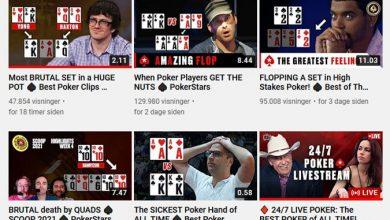 Pokernyheder, Pokerstars Youtube, Pokerstars, Online Poker, Poker Resultater