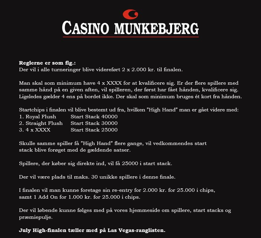 July High 2021, Casino Munkebjerg, Pokernyheder,
