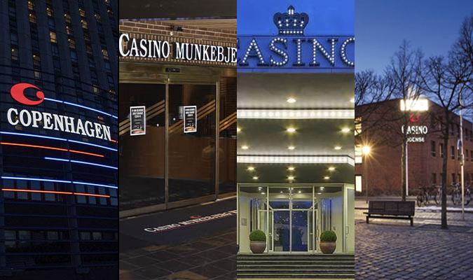 Casino Copenhagen, Casino Munkebjerg, Vasino Marienlyst, Casino Odense