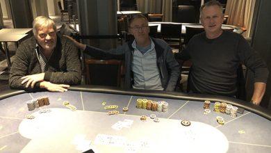 Niels H.M, Kim Kock og Peter Vork, Casino Marienlyst, Live Poker, Poker, Pokernyheder